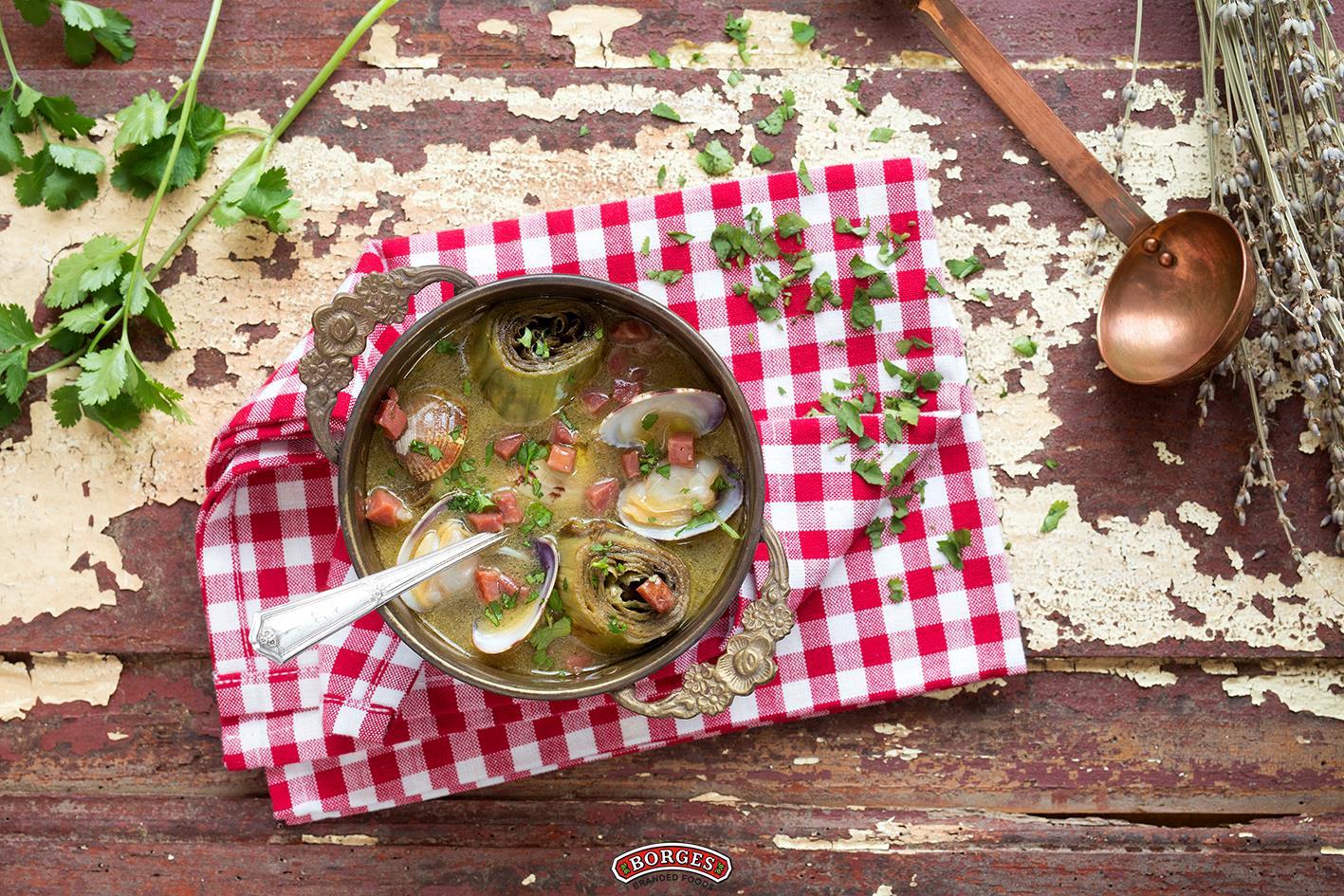 橄欖油推薦食譜:朝鮮薊蛤蠣濃湯