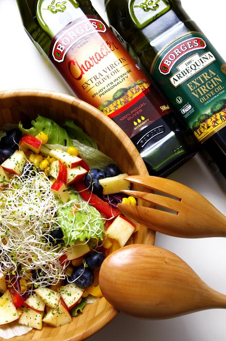 橄欖油推薦食譜: 野蔬鮮果沙拉