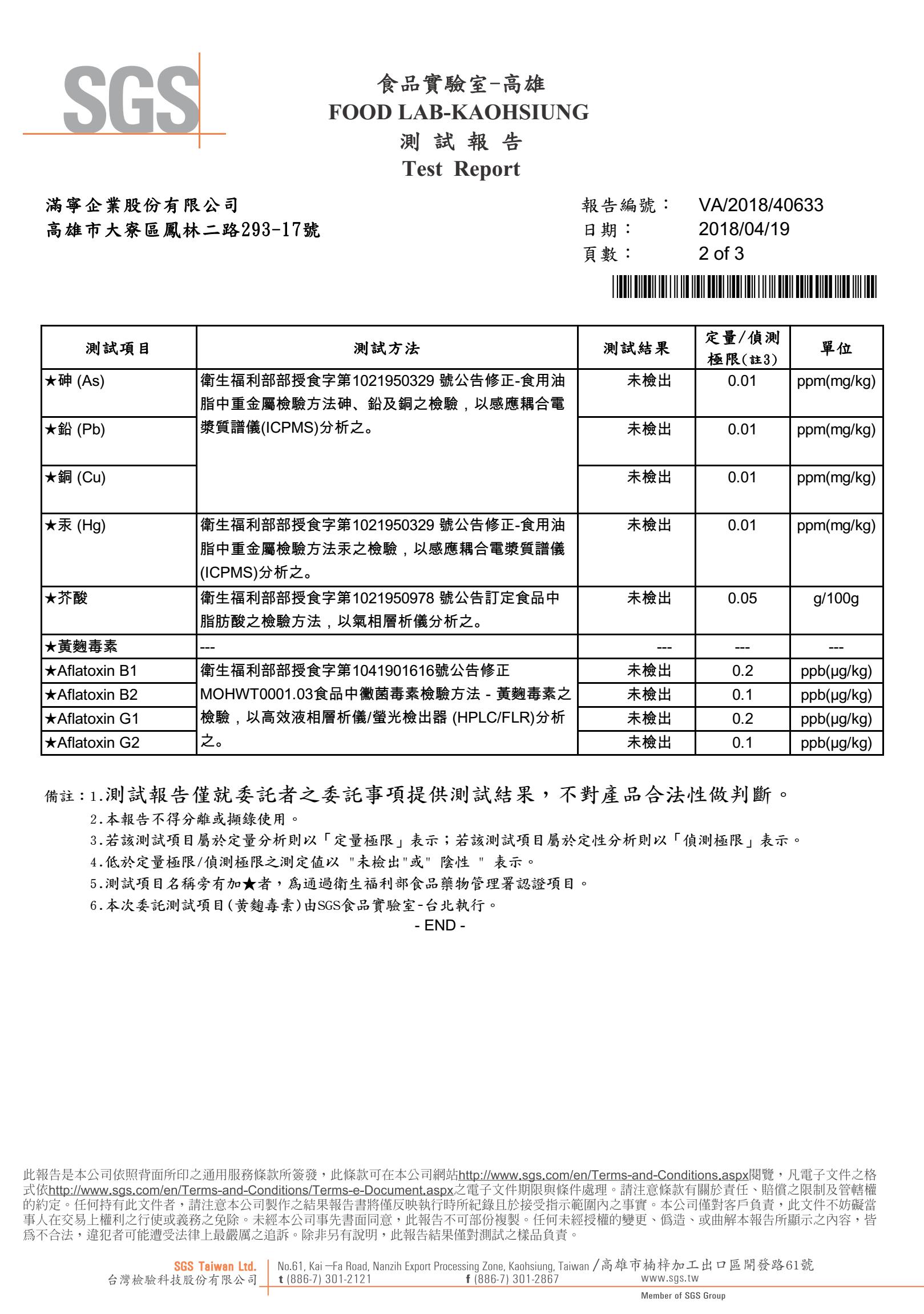 韓國千年味人初榨冷壓紫蘇油,經SGS檢驗合格