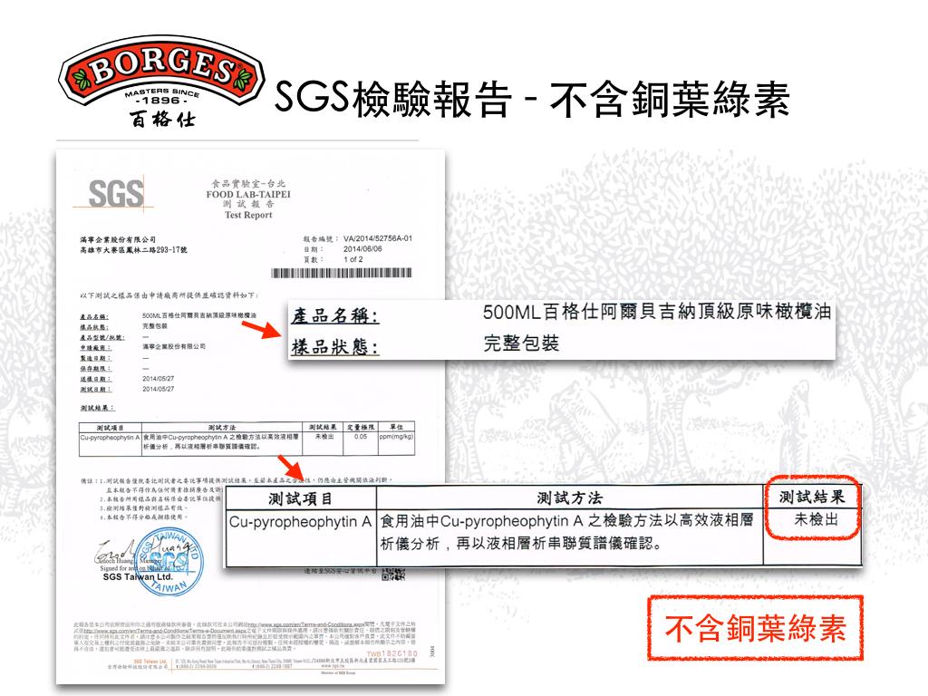 SGS檢驗報告-不含銅葉綠素