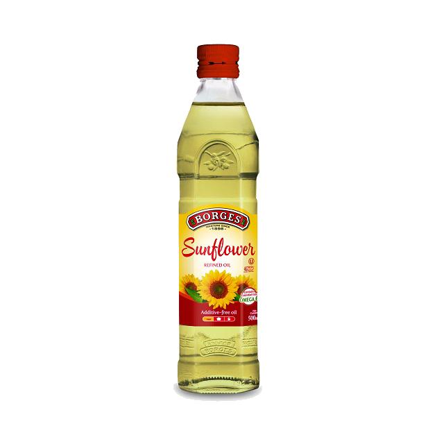 葵花油500ml-100%純葵花油,油性安定耐高溫,是煎煮炒炸等一般家庭烹調最經濟實惠的選擇,500毫升裝方便攜帶。 1