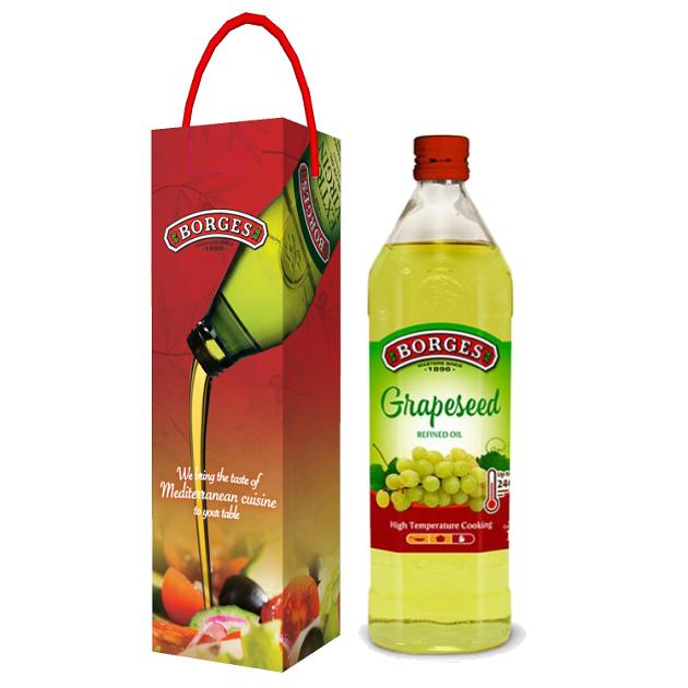 葡萄籽油1L-100%純葡萄籽油,油性安定耐高溫,是煎煮炒炸、烘焙等各式高溫烹調的最佳選擇。 2