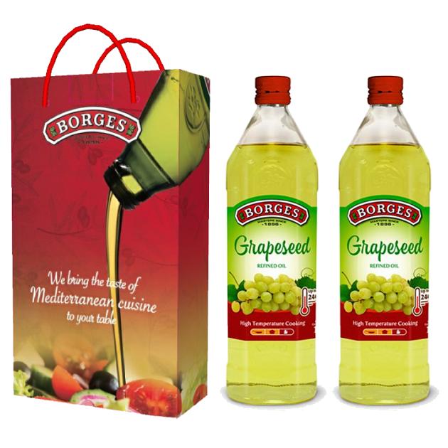 葡萄籽油1L-100%純葡萄籽油,油性安定耐高溫,是煎煮炒炸、烘焙等各式高溫烹調的最佳選擇。 3