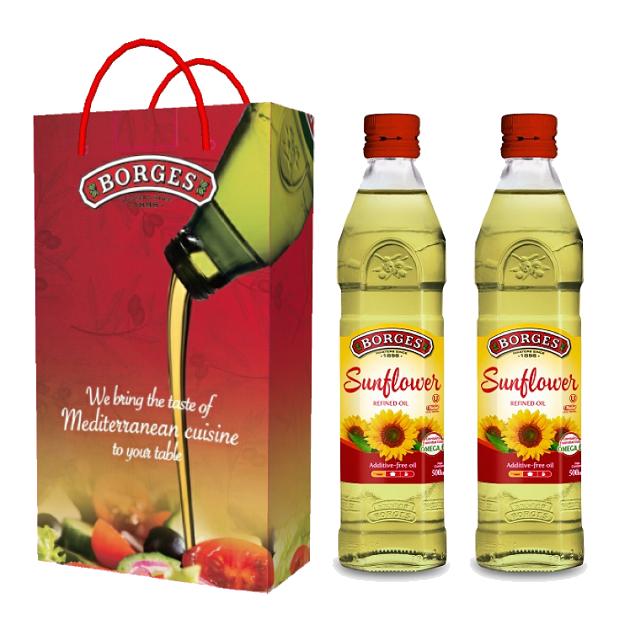 葵花油500ml-100%純葵花油,油性安定耐高溫,是煎煮炒炸等一般家庭烹調最經濟實惠的選擇,500毫升裝方便攜帶。 3