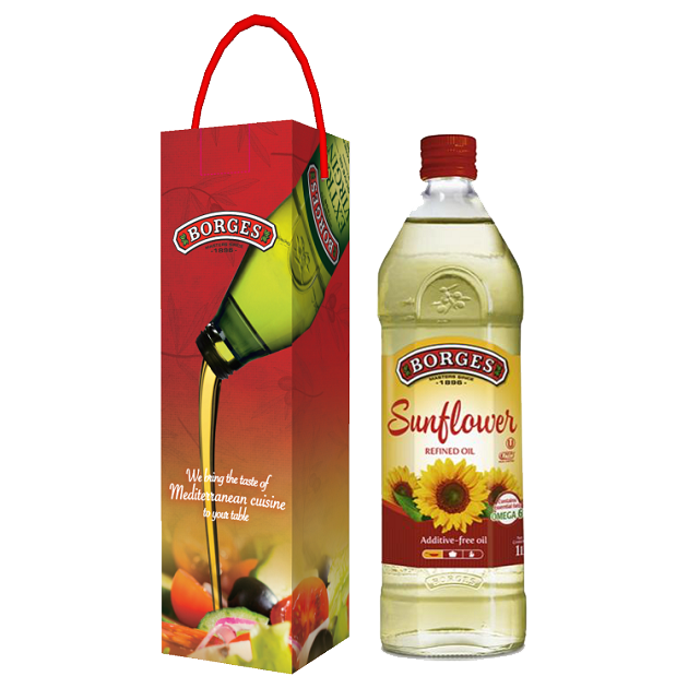 葵花油1公升-百格仕西班牙葵花油,100%純葵花油,油性安定耐高溫,適合煎煮炒炸。 2