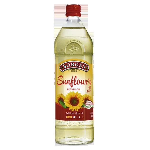 葵花油1公升-百格仕西班牙葵花油,100%純葵花油,油性安定耐高溫,適合煎煮炒炸。 1
