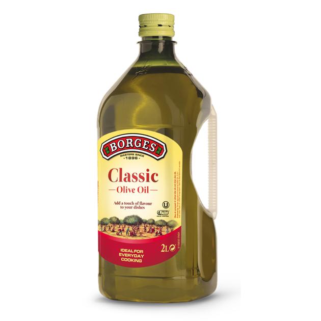 中味橄欖油2公升-百格仕西班牙橄欖油推薦油品,100%純橄欖油,油性安定耐高溫,2公升裝經濟實惠。 1