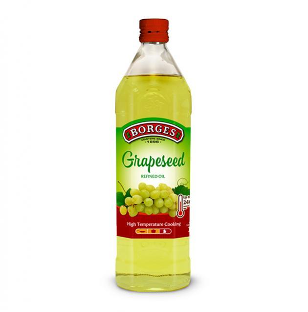 葡萄籽油1公升-百格仕西班牙葡萄籽油,100%純葡萄籽油,油性安定耐高溫,適合煎煮炒炸。 1