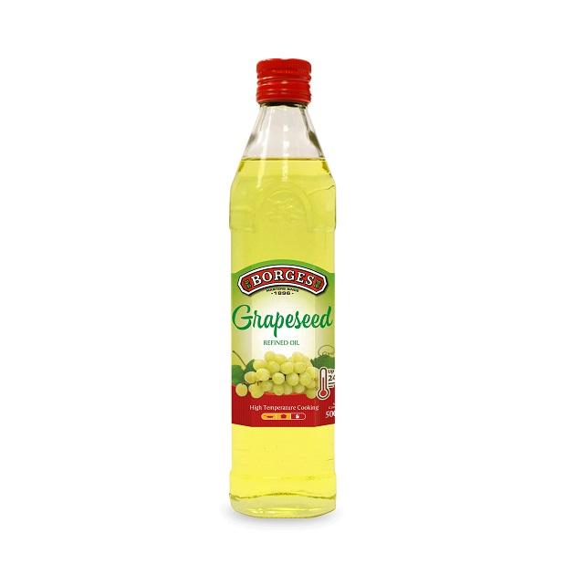 葡萄籽油500毫升-百格仕西班牙葡萄籽油,100%純葡萄籽油,油性安定耐高溫,適合煎煮炒炸;500毫升裝方便攜帶。 1