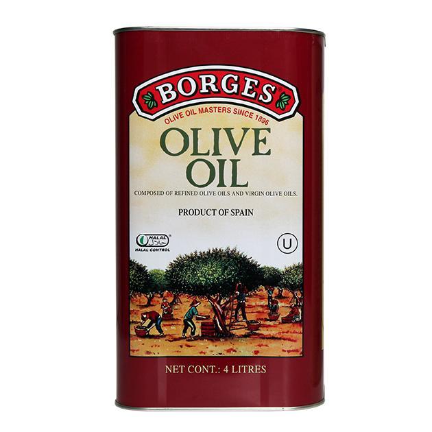 中味橄欖油 4公升-百格仕西班牙橄欖油推薦油品,油性安定油煙少,西班牙橄欖油網路推薦廚房料理最佳選擇,4公升裝適合經常下廚的家庭、餐廳。 1